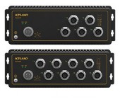 Aquam5/8, 5/8 port průmyslový switch EN50155, IP65/67