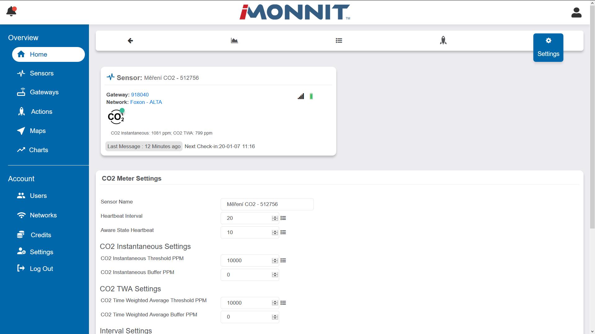 Bezdrátové IoT senzory Monnit, teplotní senzor, FOXON